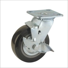 H1 Heavy Duty Type Double Ball Bearing PU Side Brake Type Industrial Caster