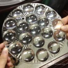 Прозрачное пластиковое освещение привело линз оптически объектива в форму