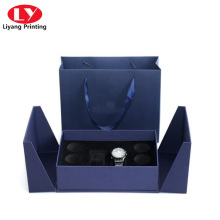 Luxury Double Door Watch Box With Watch Bag