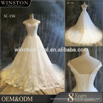2016 New Fashion Real Photo leather wedding dress