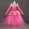2017 Pink and blue color Aurora princess dress with cheap price
