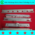 High quality galvanized steel pole/cross arm/steel angle/channel steel for overhead line hardware