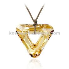 Shining yellow natural crystal pendant