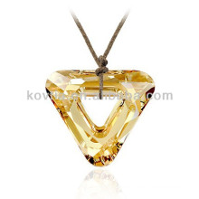 Brilhante pingente de cristal natural amarelo