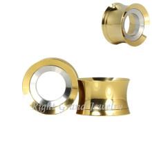 Großhandel intern Gewinde Titan Gold Ohr Gauges Tunnels