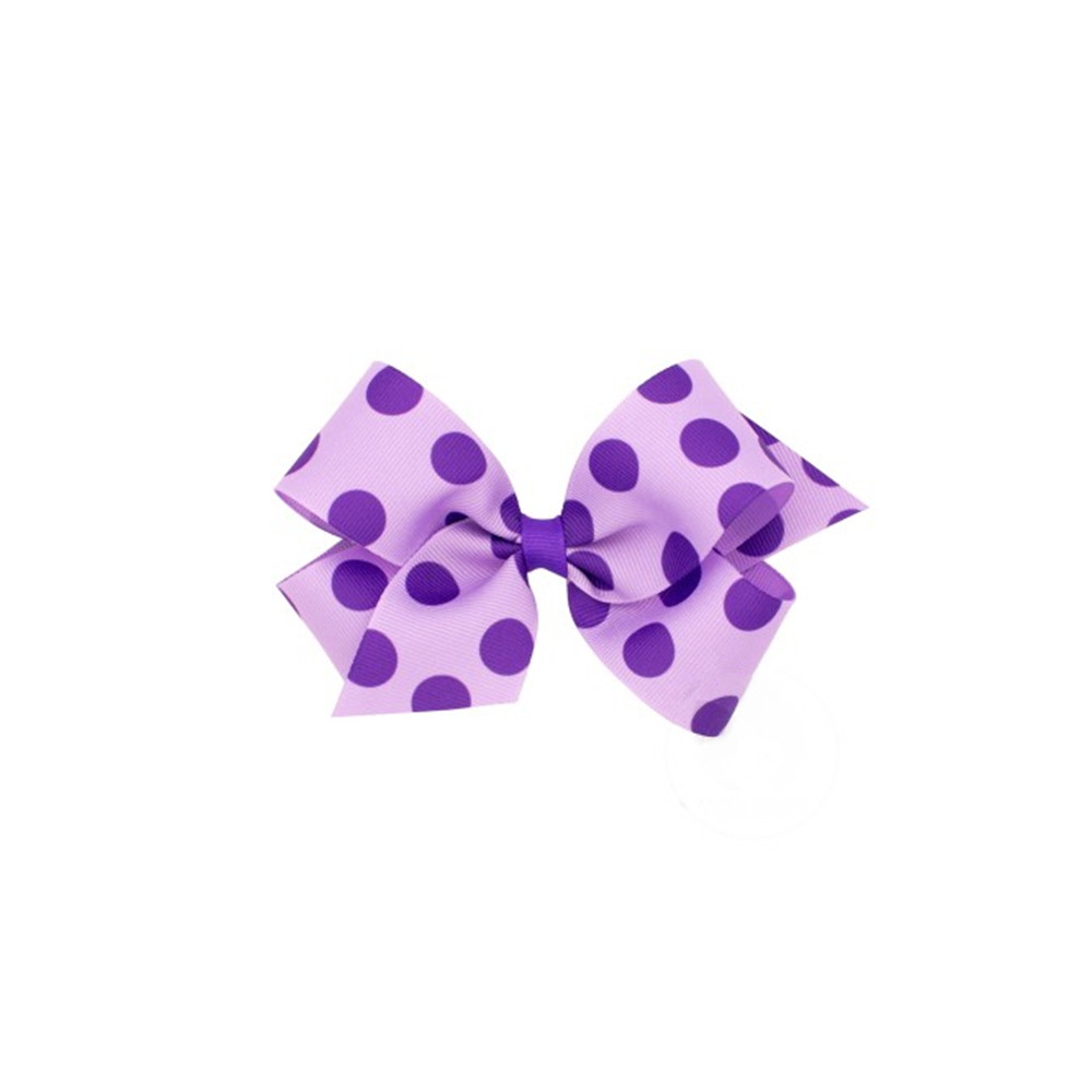 purple dot ribbon bow