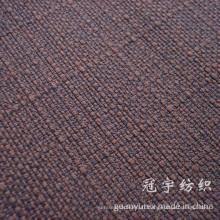 Tissu de lin cationique de double couleur avec 100% polyester