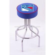 Поощрение Хромированная Поворотная Синтетическая Кожа дешевый барный стул