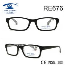 Padrão de moda dentro de óculos de leitura de plástico de alta qualidade (RE676)