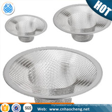 stainless steel ground floor sink wire mesh filter drain strainer