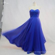RSE722 niños de largo gasa noche azul real vestido de noche vestido de fiesta vestido de fiesta