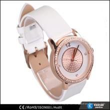 Ashimmer rosafarbene Golduhr, Frauenmarkenuhr Armband