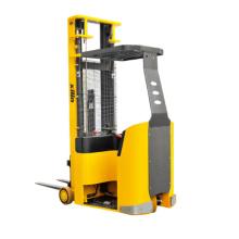 Xilin 1000kg 2200lbs Capacity 3 m 5 m Electric Reach Truck Small Turning Radius Narrow Aisle Forklift