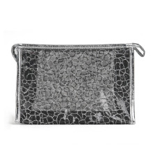 Леди мода черный нейлоновая сетка косметический мешок клатч туалетных принадлежностей (YKY7536-5)