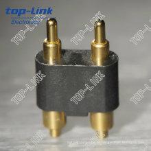 Alto Desempenho Pin de 2 Pinos macho Pogo conector com passo de 2,54 mm