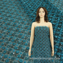 Spangle Embroidery Sequin Chemical Lace Fabric (BYHS018)