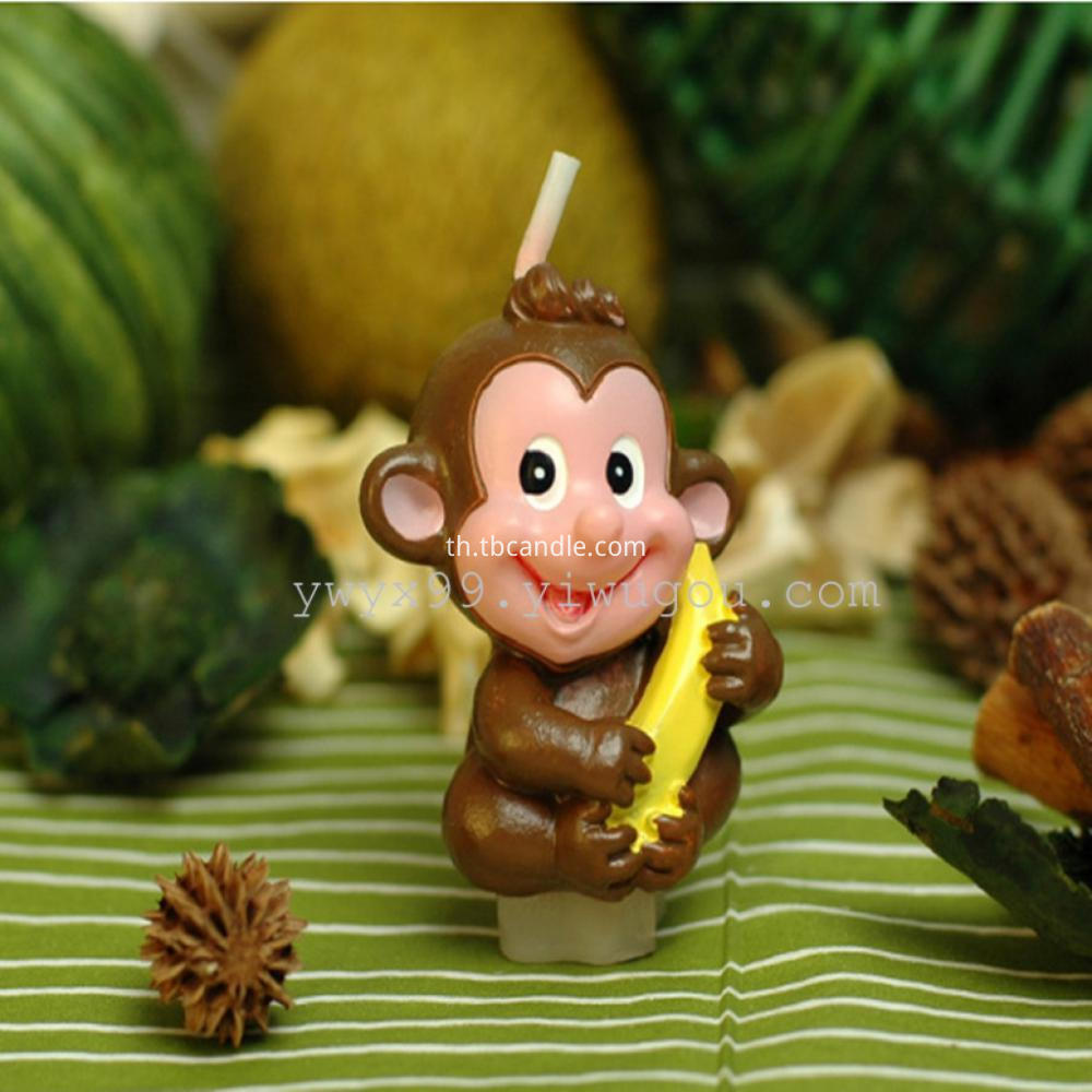 monkey shape Birthday candle