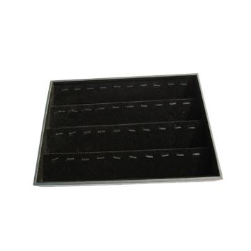 40 клипов Черный флоке ювелирные изделия Подвесной лоток хранения (TY-40P-BV)
