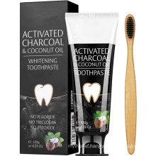 100% Natural Activated Charcoal & Coconut Oil Teeth Whitening Toothpaste