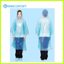 Blue Color Full Length Disposbale PE Raincoat