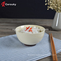 Hot selling plain ceramic bowl and plate,custom porcelain bowl ang plate