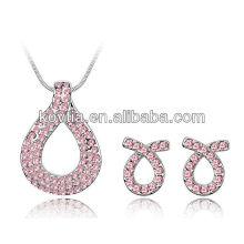 Ensemble de bijoux en forme de bijoux en forme de serpent Ensemble de bijoux en cristal plaqué or