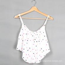 2015 último diseño de moda Inicio Imprimir algodón mujer blusa