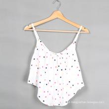 2015 mais recente design de moda Iniciar impressão algodão mulheres blusa