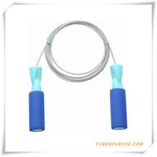 Presentes da promoço da corda de salto do PVC da alta qualidade da fábrica (OS07023)
