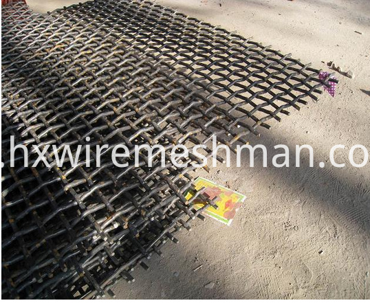 65 Mn steel crimped wire mesh