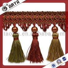 2015 tassel fringe with beaded for curtain pillow.handmade trimming