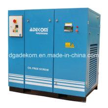 VSD Compresor de aire industrial sin aceite del tornillo de diente rotatorio (KE90-10ET) (INV)