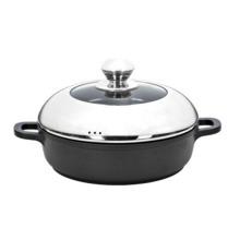 Grand pot de soupe de cuisine de restaurant en aluminium
