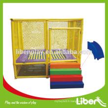 Trampoline rectangulaire de petite taille de 12 pieds avec coffret de sécurité