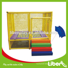Small Size 12ft Rectangular Trampoline with Safety Net Enclosure