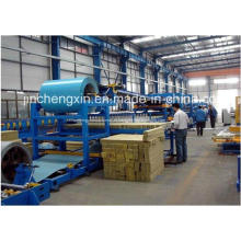 Linha da máquina da produção do painel de sanduíche de lãs minerais de Rockwool