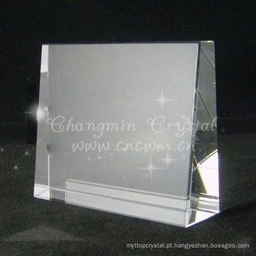 K9 cristal em branco, prêmio de cristal K9, cristal laser 3D
