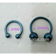 316 Barbell circulaire à fer à cheval en acier inoxydable avec double bille