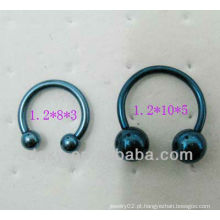 316 Barbell circular em ferradura do aço inoxidável com esfera dobro