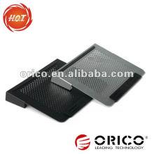Double ventilateur Tous les blocs de refroidissement pour ordinateur portable en aluminium de 14 pouces, bloc-notes