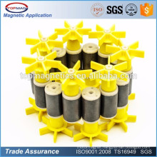 Strong Black Dics Ring Round Ferrite Ceramic Magnet from Shenzhen China