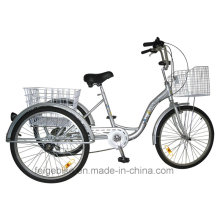 """24 """"Shopping Trike Aluminiumlegierung Rahmen Cargo Dreirad (FP-TRI-10)"""