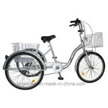 """24 """"tricycle en aluminium de cargaison de cadre d'alliage d'aluminium de tricycle (FP-TRI-10)"""