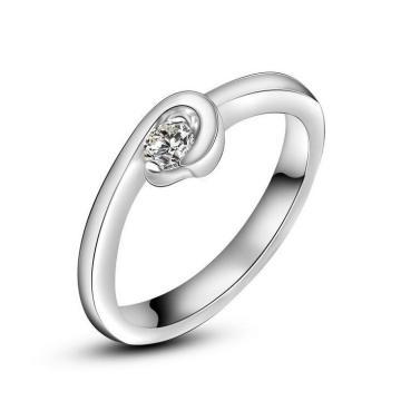 Jóia inoxidável anel de casamento de platina chapeamento