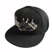Chapeau Snapback noir brodé 3D