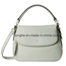 Fold-Over Flap PU Leather Fashion Women Handbag (ZXS0112)