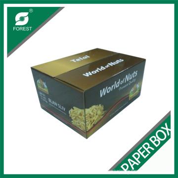 Kundenspezifische Farbdruck Nuss Wellpappe Box