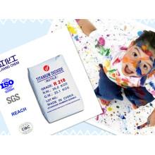 Polvo blanco Rutilo dióxido de titanio para uso de pintura (R218)