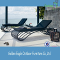 Outdoor Aluminium Cane Wicker Sun Lounger