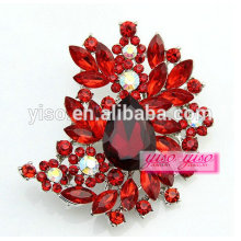 factory wholesale custom design crystal flower brooch